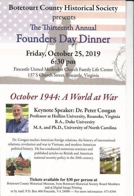 Founders Day Dinner